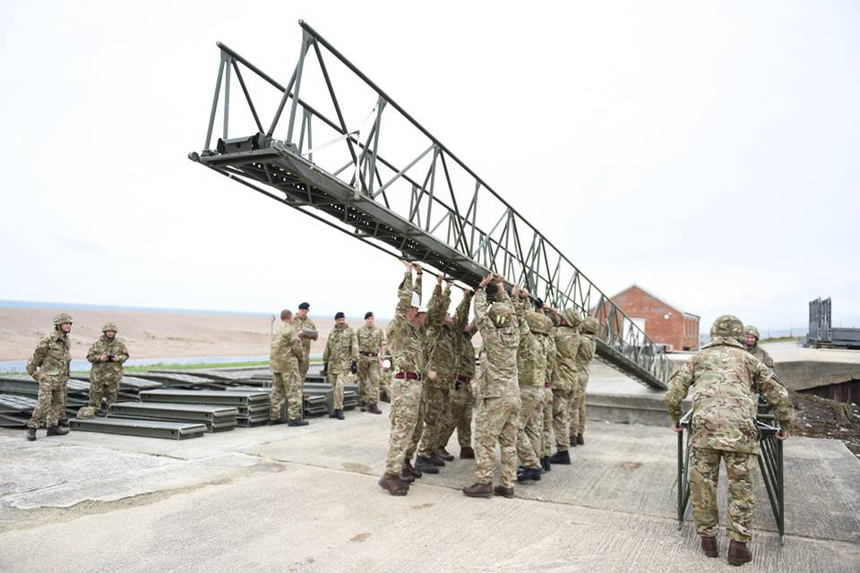 20160903 100 Fd Sqn Bridging lift infantry assault bridge