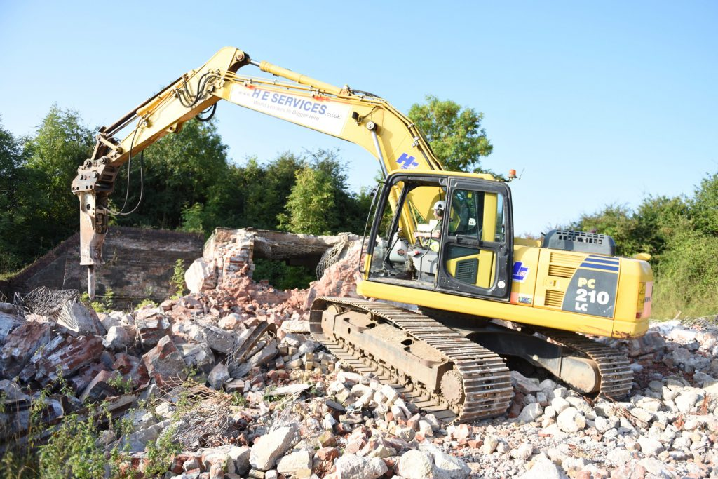 Army Reserve Royal Engineer plant operator remodels Caerwent training area