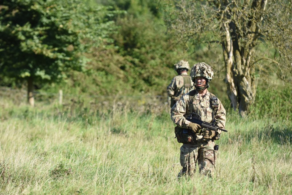 Army Reserve Royal Engineers from The Royal Monmouthshire Royal Engineers (Militia) train for the Cambrian patrol exercise