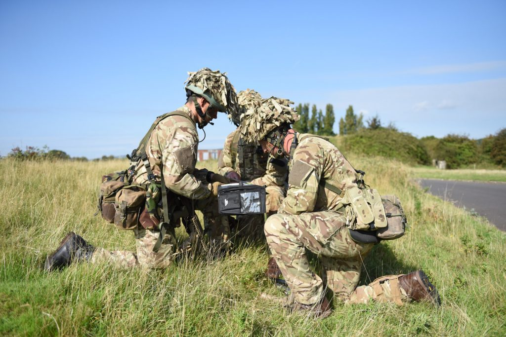 Army Reserve Royal Engineers practice navigation and patrolling and fieldcraft, preparing for the Cambrian Patrol