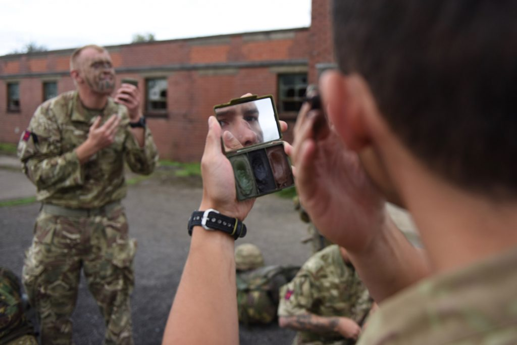 Army Reserve Royal Engineers from Wales and West Midlands prepare for Cambrian patrol training