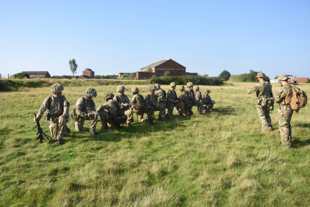 Army Reserve Royal Engineers from Bristol, Cwmbran, Cardiff, Swansea, Birmingham, Stoke-on-Trent train for the Cambrian Patrol