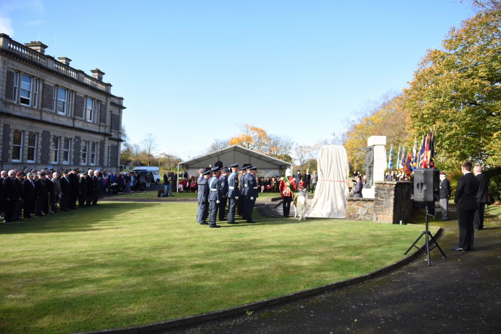 Llanelli War Memorial was well attended by the local community as well as members of the Armed Forces.