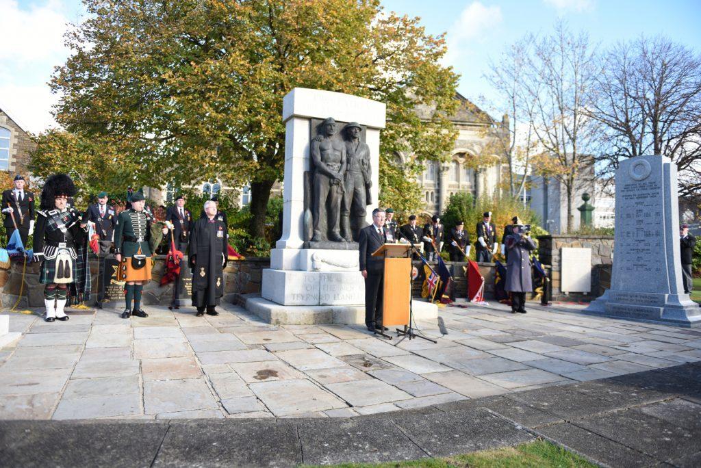 Llanelli War Memorial ceremony