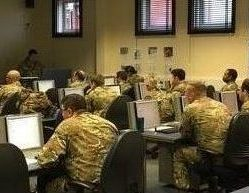 Signallers/Communicators from The R Mon REM train on the Battlefield tracking application.