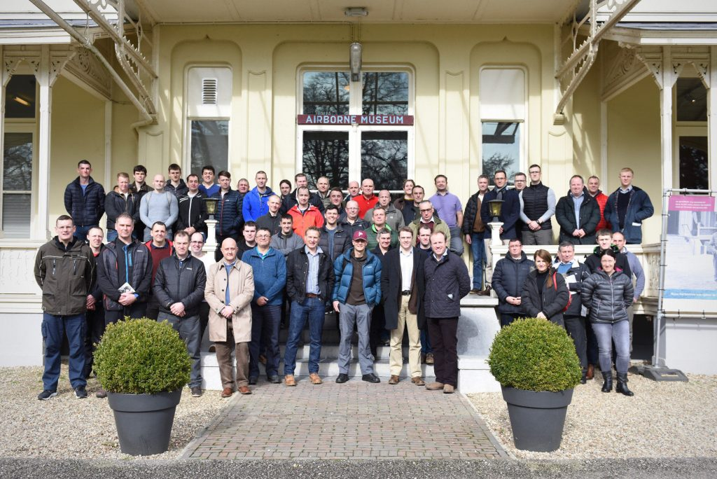 Soldiers & Officers of The Royal Monmouthshire Royal Engineers (Militia) visit Oosterbeek's Airborne Museum during a battlefield study of Operation Market Garden