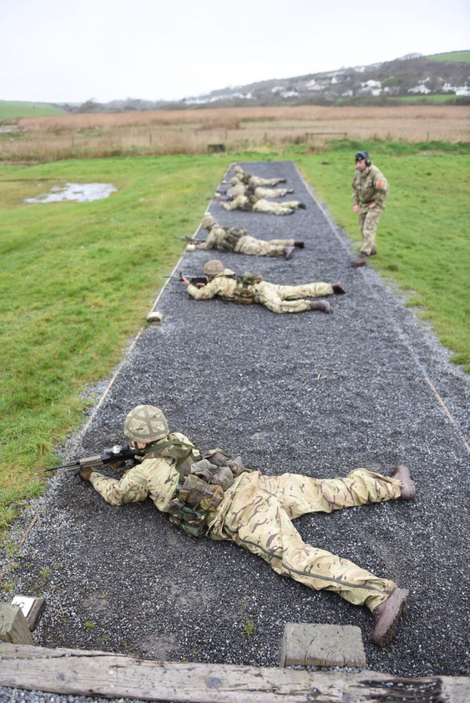 Marksmanship training for the R Mons RE(M) Army Reserve Royal Engineers