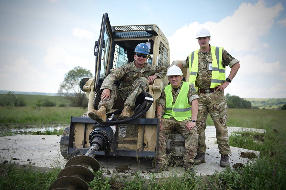 Army Reserve Royal Engineers from Wales, Bristol and Monmouth training in Romania on #ExRESOLUTECASTLE utilise various pieces of plant equipment