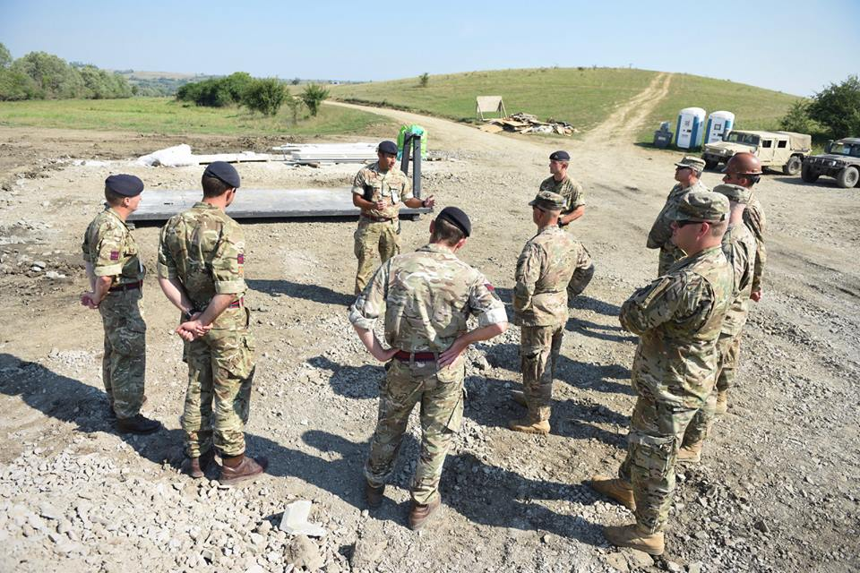 Army Reserve Royal Engineer soldiers of the R Mon RE(M) have conducted construction training in Cincu, Romania alongside US Army and Romanian Army colleagues.
