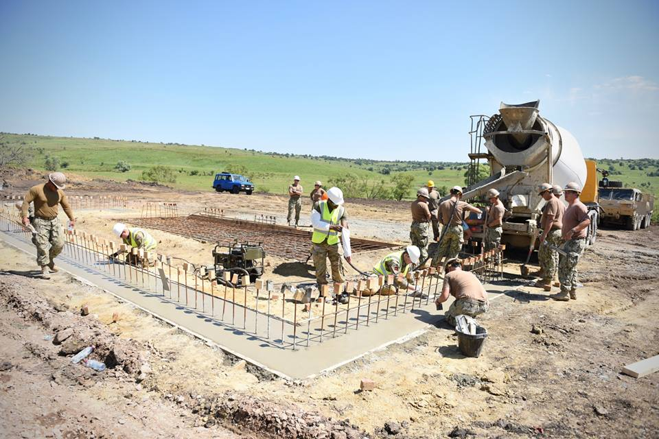 Army Reserve Royal Engineers from West Midlands based 225 Field Squadron of The R Mon RE(M) on construction task in Romania