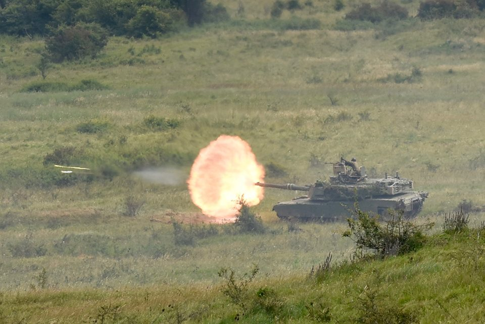Army Reserve Royal Engineers witnessed the Ex SABER GUARDIAN firepower demo during #ExRESOLUTECASTLE in Romania 2017
