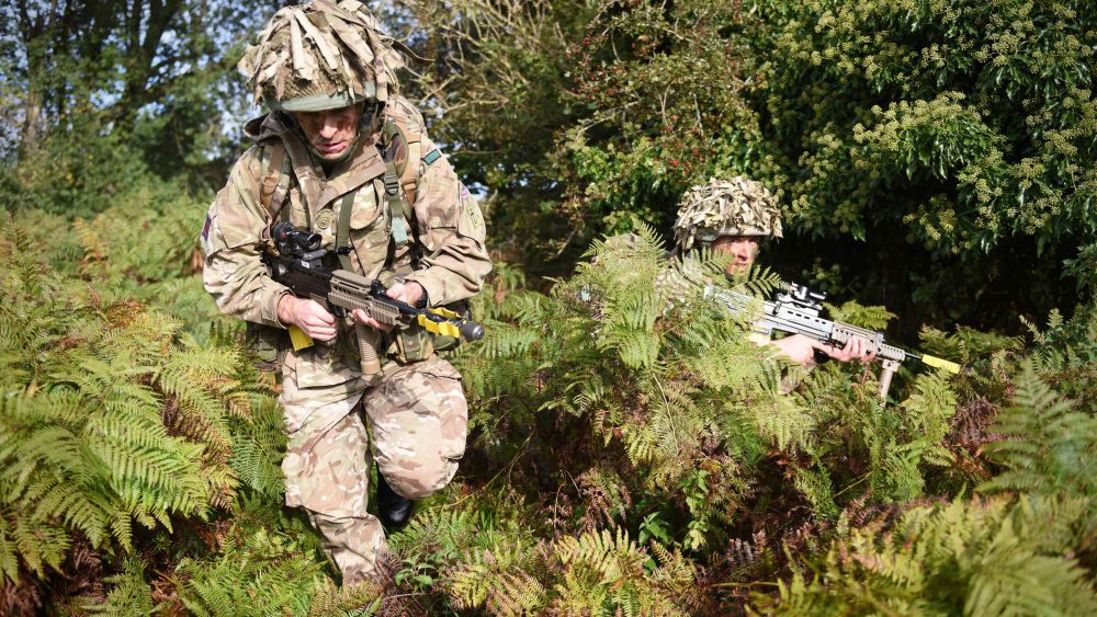 Regimental Infantry Weekend Caerwent Personnel from The Royal Monmouthshire Royal Engineers (Militia) came together to attend a infantry weekend exercise on Caerwent Training Area. There were several military stands that included BCD (Battle Casualty Drills), building clearance, section attacks, vehicle recovery and CBRN (Chemical Biological Radiological and Nuclear) training. All four Squadrons from the Regiment attended the weekend that totalled over 100 in personnel. ENDS NOTE TO DESKS: MoD release authorised handout images. All images remain crown copyright. Photo credit to read - Sergeant Jon Bevan R Mon RE (M)/Crown Copyright Photographer contacts jonbevanmailbox@gmail.com 01792 450164