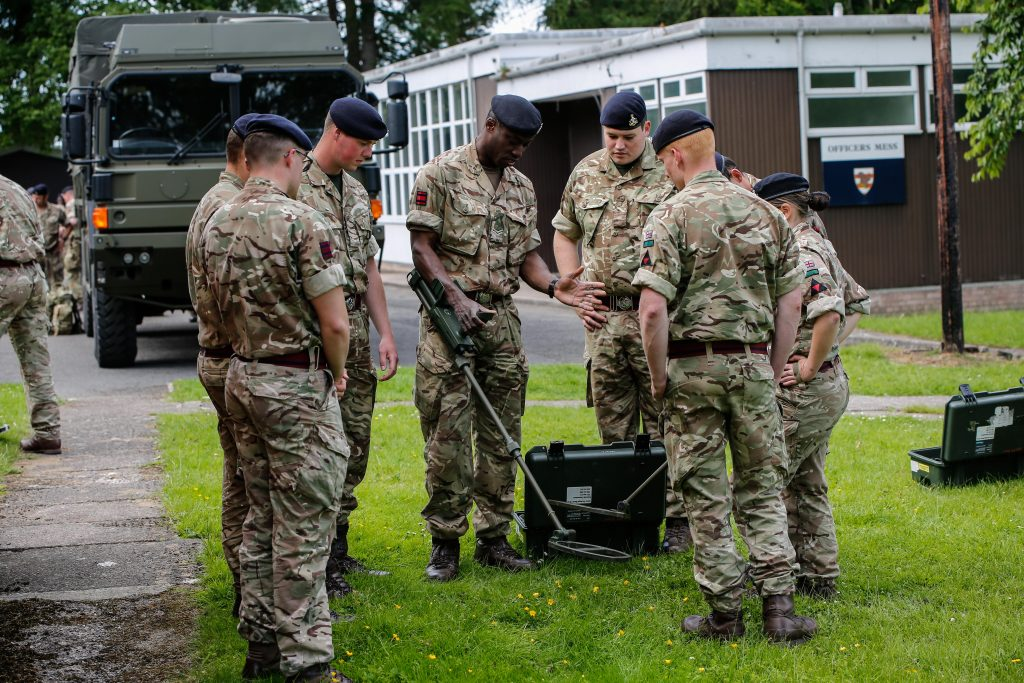 Army Reserve Royal Engineers of The Royal Monmouthshire Royal Engineers (Militia) prepare to deploy into the field on Ex MILITIA THUNDER their 2018 Annual Camp training.